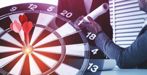 Cel Biznesowy Cel Dla Strategii Strategii Sukcesu Premium Zdjęcia