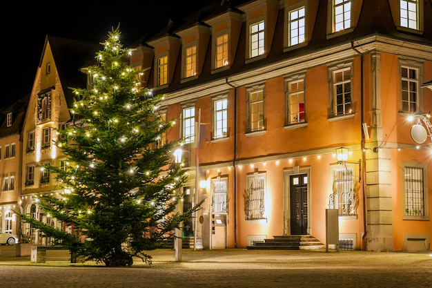 Centralny Rynek Starego Miasta Weikersheim, Baden-wurttember Premium Zdjęcia