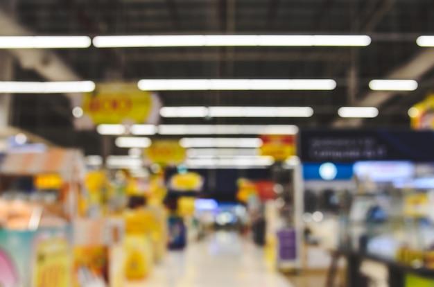 Centrum handlowe rozmazane tło Premium Zdjęcia