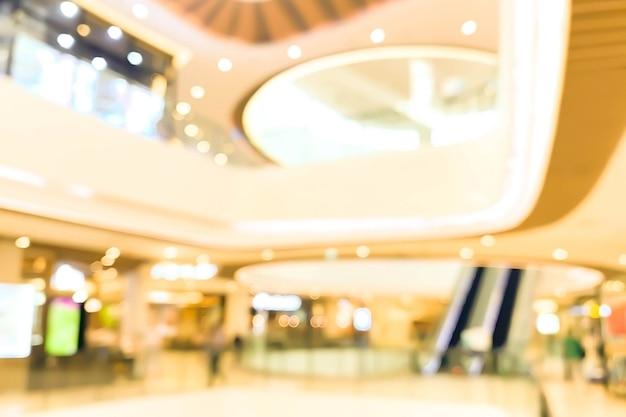 Centrum Handlowe Streszczenie Niewyraźne Tło Zamazane Pole. Pomysł Na Biznes. Premium Zdjęcia