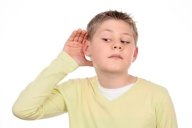 Chłopiec Słucha Plotek Darmowe Zdjęcia