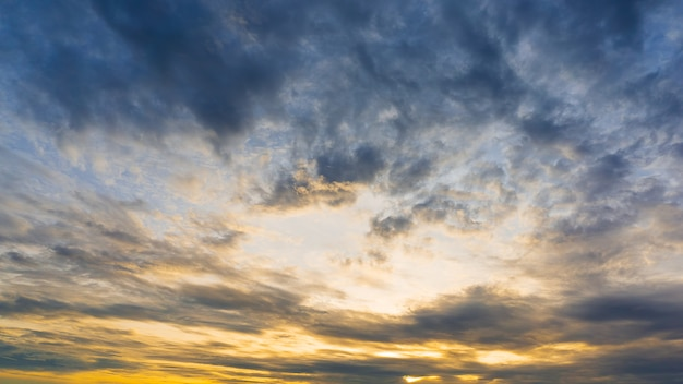 Chmurny Ranku Nieba Natury Tło Premium Zdjęcia