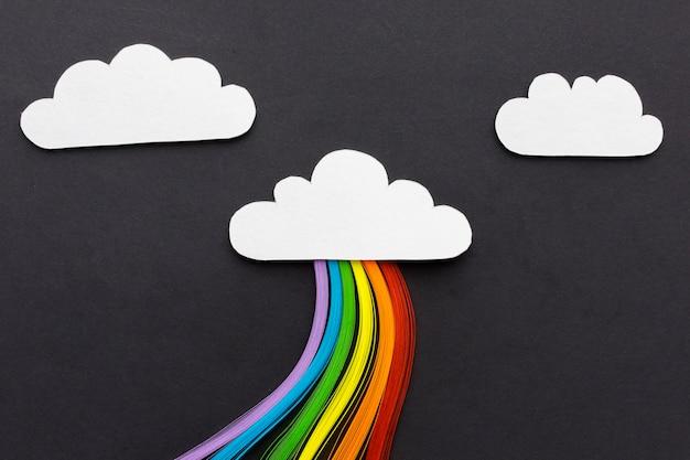Chmury Na Czarnym Tle I Tęczy Darmowe Zdjęcia