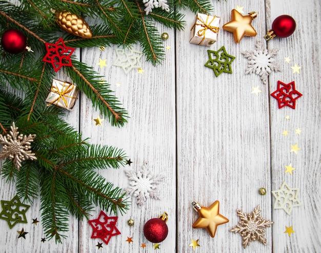 Choinki jodła z dekoracją Premium Zdjęcia