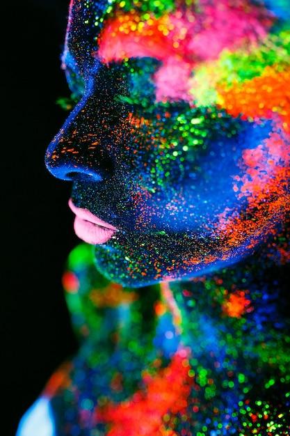 Ciało Kobiety Pomalowane Premium Zdjęcia