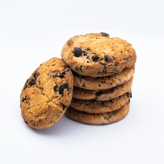 Ciasteczka Z Kawałkami Czekolady Premium Zdjęcia