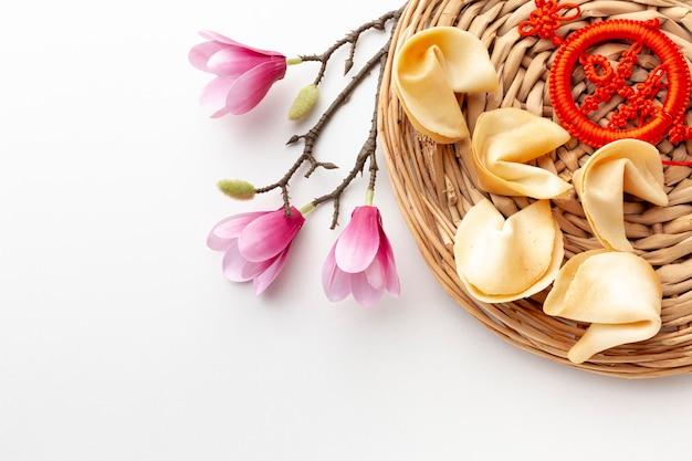 Ciasteczka Z Magnolii I Fortuny Chiński Nowy Rok Darmowe Zdjęcia