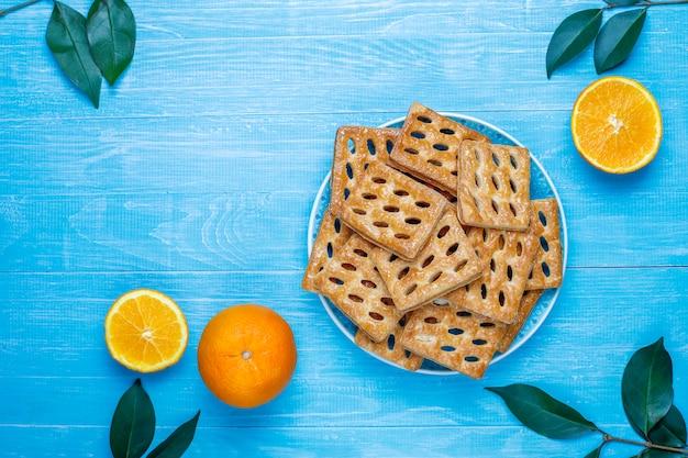 Ciastka Pyszne Ciasto Francuskie, Widok Z Góry Darmowe Zdjęcia
