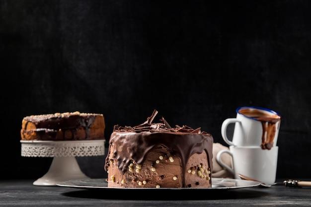 Ciasto Czekoladowe Z Bliska Premium Zdjęcia