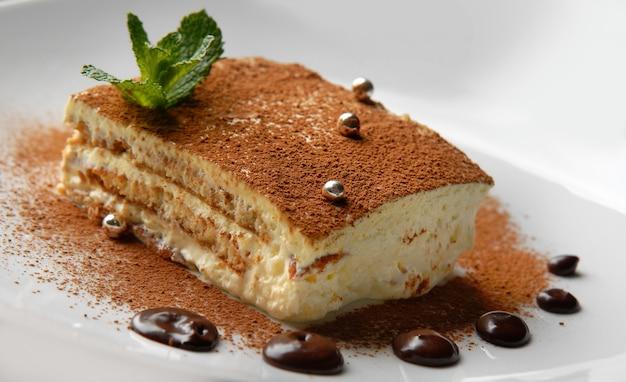 Ciasto Tiramisu, Tiramisu Włoski Deser Premium Zdjęcia