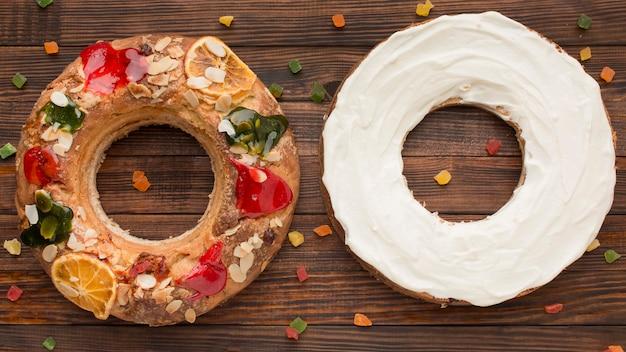 Ciasto Trzech Króli Roscon De Reyes I Cream Darmowe Zdjęcia
