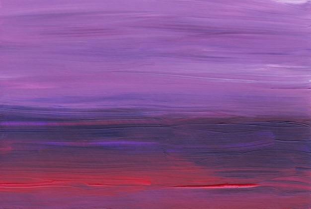 Ciemnoczerwona, Fioletowa I Różowa Abstrakcja. Ręcznie Malowane Tło Olej. Premium Zdjęcia