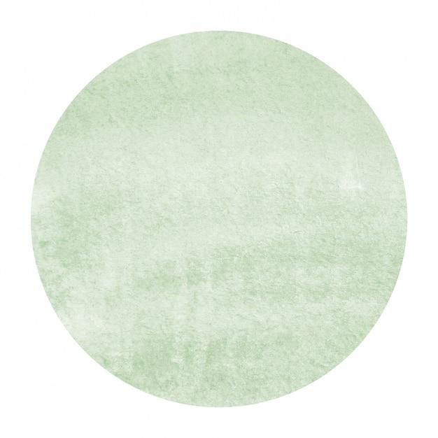Ciemnozielona ręcznie rysowane akwarela okrągłe ramki tekstura tło z plamami Premium Zdjęcia