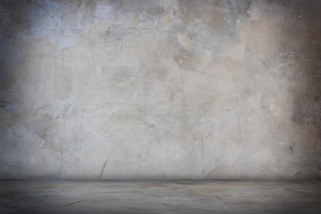 Ciemny czarny i szary pokój studio banner i puste tło cementu i betonu Premium Zdjęcia