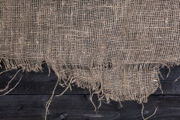 Ciemny drewniany stół z płótnie Premium Zdjęcia