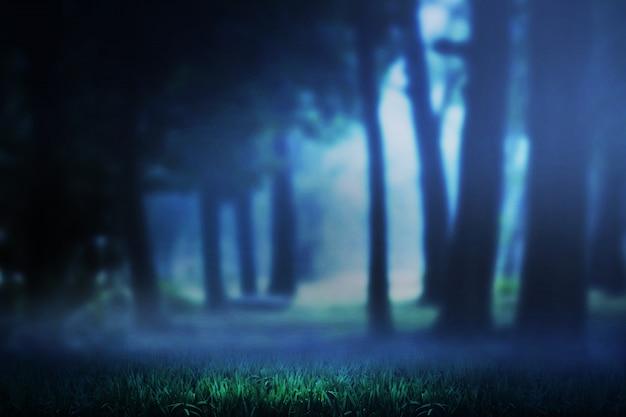 Ciemny las i mgła Premium Zdjęcia