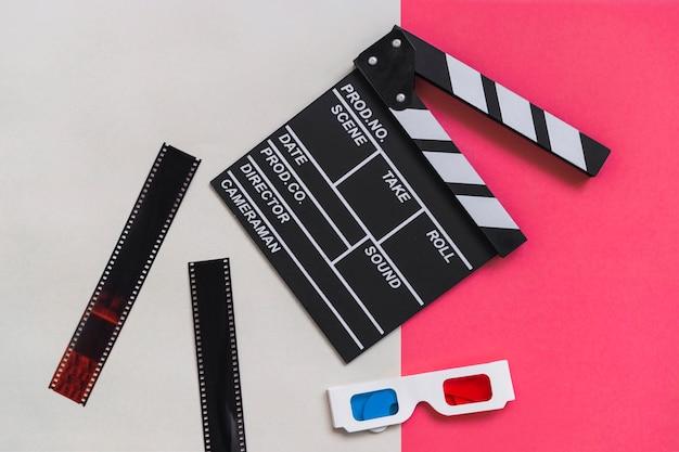 Clapboard blisko kartonu 3d szkła Darmowe Zdjęcia