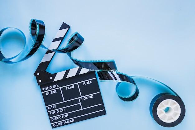Clapperboard z przezroczy na niebiesko Darmowe Zdjęcia