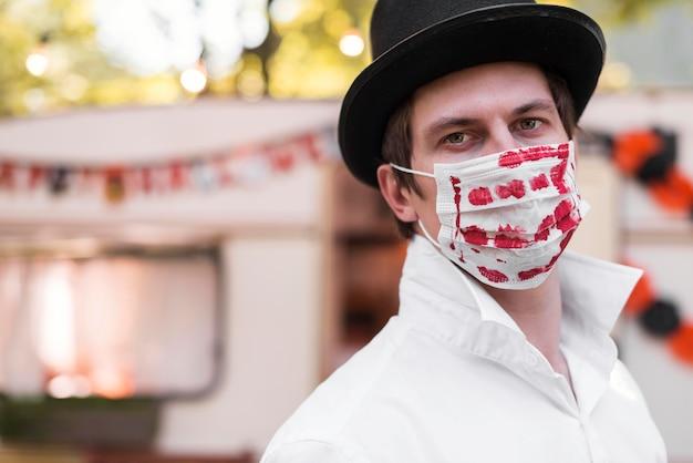 Close-up Mężczyzna Noszenie Maski Darmowe Zdjęcia