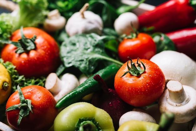 Close-up z różnych organicznych warzyw Darmowe Zdjęcia
