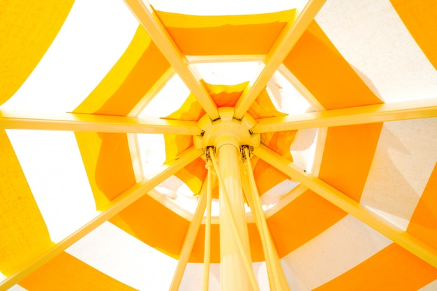 Colorfull żółty Parasolowy Tło Premium Zdjęcia