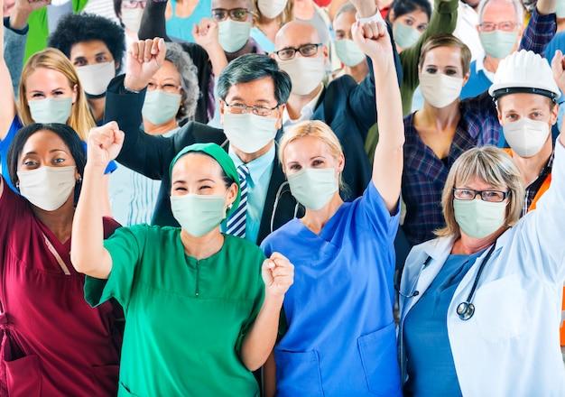 Covid-19 Pierwszej Linii Opieki Zdrowotnej I Niezbędni Pracownicy Darmowe Zdjęcia