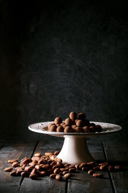 Cukierki Domowej Roboty Trufle Premium Zdjęcia