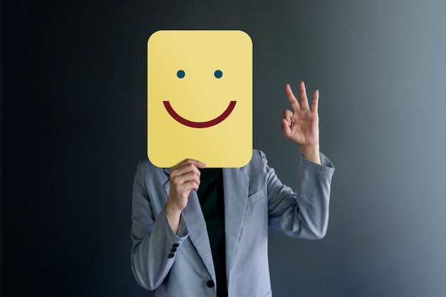 Customer Experience Lub Human Emotional Concept Premium Zdjęcia
