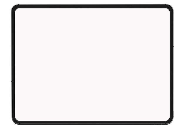 Cyfrowej Pastylka Na Białym Tle Na Białym Tle Dla Teraźniejszego Reklamowego Produktu Lub Strony Internetowej Premium Zdjęcia