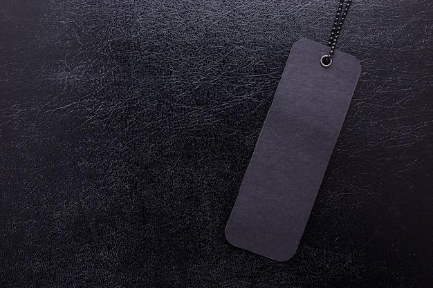 Czarna Etykieta Na Czarnym Tle Na Białym Tle Premium Zdjęcia