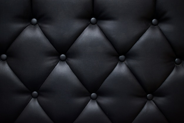 Czarna Kanapa Kolor Tekstury Premium Zdjęcia