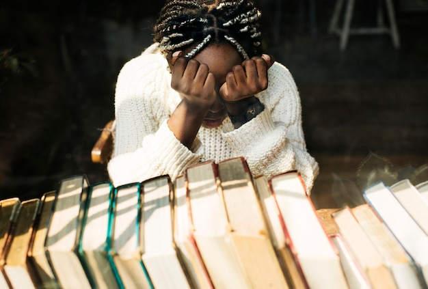 Czarna Kobieta Z Depresją Emocji Darmowe Zdjęcia
