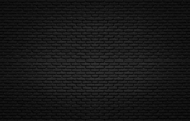 Czarna Tekstura Z ściana Z Cegieł Dla Tła Premium Zdjęcia