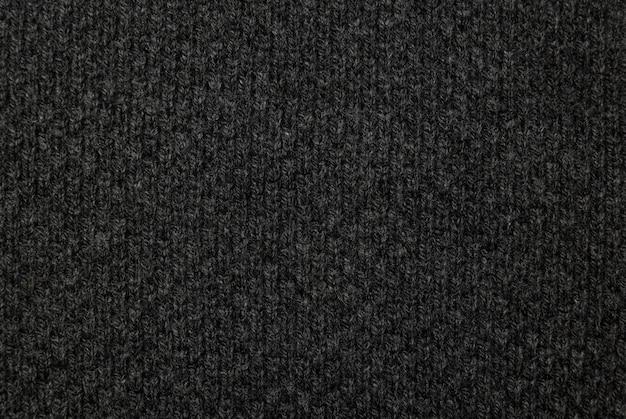 Czarna Tkanina Tekstura, Tło Wzór Tkaniny. Premium Zdjęcia