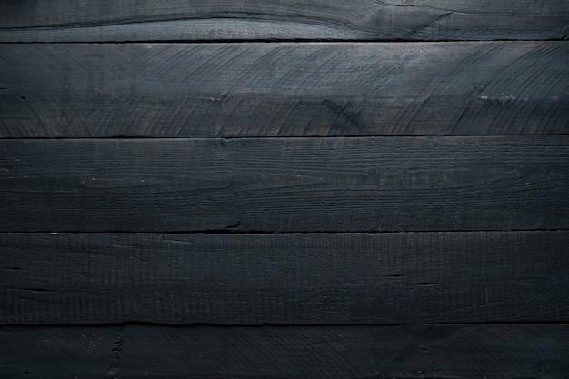 Czarne Tło Drewna. Ciemne Drewniane Tekstury Premium Zdjęcia