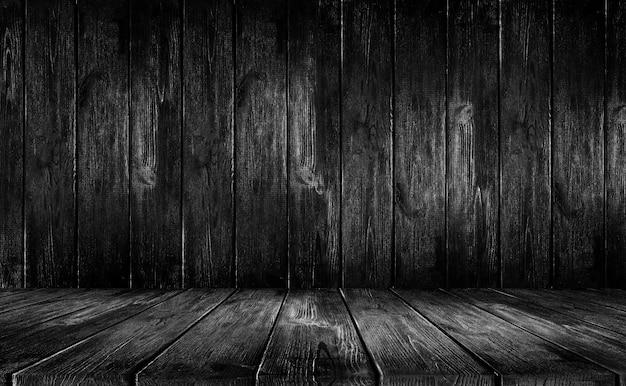 Czarne tło drewna Premium Zdjęcia