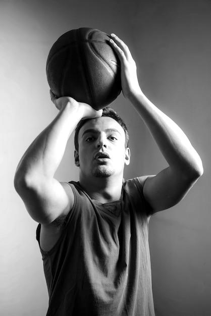 Czarno-biały efekt koszykówki Darmowe Zdjęcia