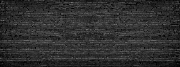 Czarny Mur Z Cegły Premium Zdjęcia