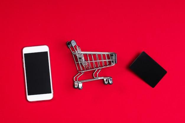 Czarny Piątek Zakupy Koncepcja Sprzedaży Z Czerwonym I Czarnym Premium Zdjęcia