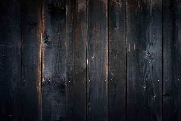 Czarny Stary Drewniany Tło Z Pionowo Deskami Premium Zdjęcia