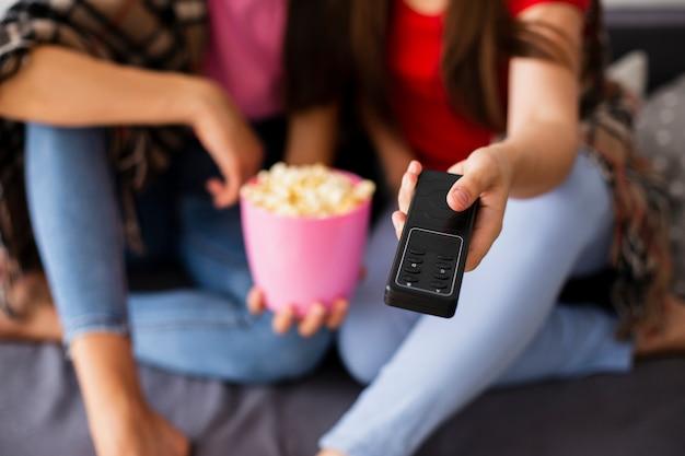 Czas Na Popcorn Z Bliska I Tv Darmowe Zdjęcia