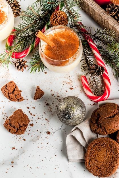 Czekoladowe Ciasteczka Crinkle Na Boże Narodzenie Premium Zdjęcia