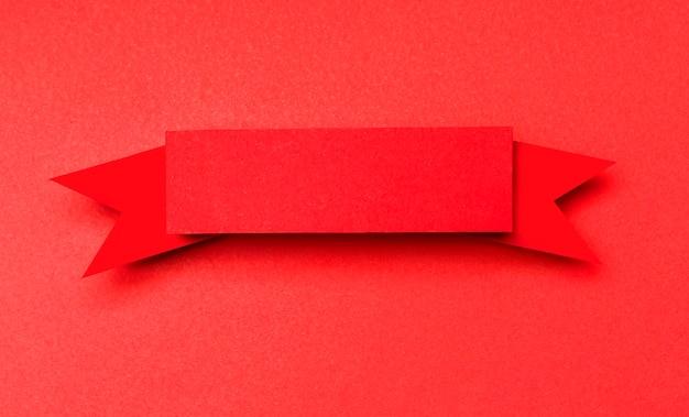 Czerwona Wstążka Na Czerwonym Tle Darmowe Zdjęcia