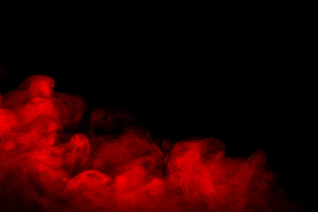 Czerwone Tło Dymu Premium Zdjęcia