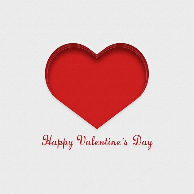 Czerwono-biała Pocztówka Na Walentynki Darmowe Zdjęcia