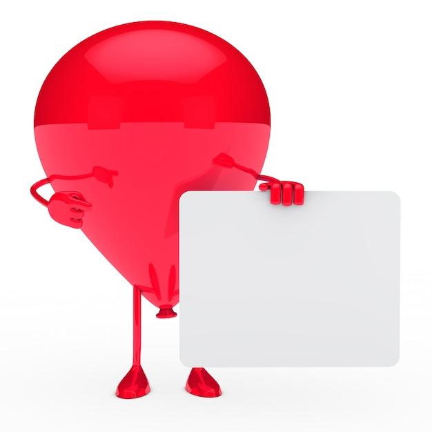Czerwony balon gospodarstwa pusty znak Darmowe Zdjęcia
