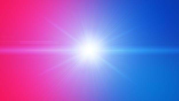 Czerwony Niebieski Pochodni Efekt Wybuchu Wiązki światła Streszczenie Tło. Premium Zdjęcia