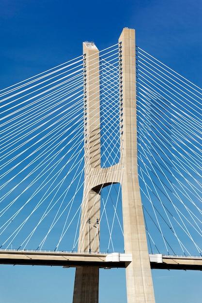 Część Słynnego Mostu Vasco Da Gama W Lizbonie Darmowe Zdjęcia