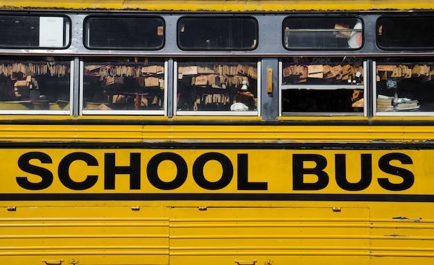 Część Tła Autobusu Szkolnego Premium Zdjęcia