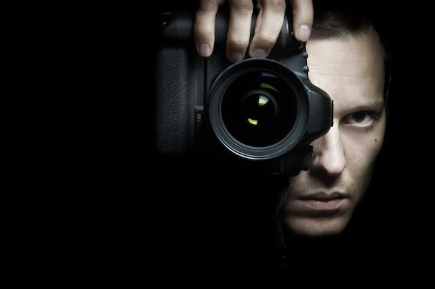 Człowiek Fotografii Premium Zdjęcia